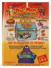 1984 DOCUMENT  (ref Cim  AL108) PUB  :  MAC DONALDS PIC'MAC  1page