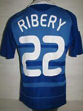 #22 RIBERY FRANCE 2008-09 HOME JERSEY SHIRT ADIDAS SIZE S