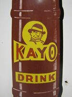 KAYO CHOCOLATE DRINK OLD ADVERTISING THERMOMETER SIGN DONASCO SODA DRINK