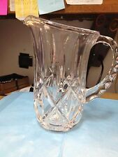 LEAD CRYSTAL PITCHER--DIAMONDS AND RAINDROPS --------------------------------gc