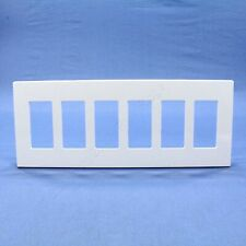 Leviton White 6-Gang Midway Size Decora Screwless Wallplate Cover GFCI SJ266-SW