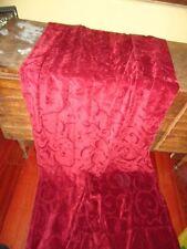 Jdt Long Red Damask Velvety Chenille Florentine Retro Throw Blanket 52 X 96