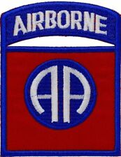 82nd Airborne Infantry Division MILITARY MORALE Embroidered PATCH RED