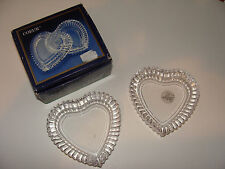 J G Durand Cristal D'Arques Coeur New Set of 2 Trinket / Jewelry Dishes France