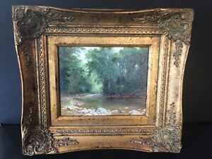 Asher Brown Durand  A Catskill Stream, 1867 Brushstrokes With COA
