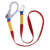 Outdoor Climbing Harness Belt Safety Fall Protection Lanyard Carabiner Hook