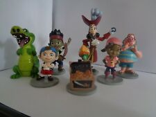 JAKE AND THE NEVERLAND PIRATES 7 PCS SOLID PVC ACTION FIGURES/CAKE TOPPERS - NEW