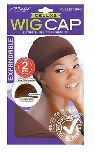 MAGIC COLLECTION DELUXE WOMEN'S STOCKING WIG CAP DARK BROWN 2225