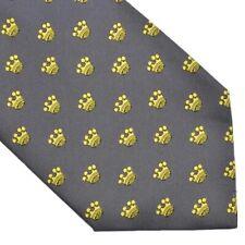 Contesse Krawatte Tie Hand Made in Germany Seide Silk Royal Regal Crown Grau