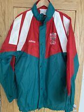 Vintage Nr Mint 1992 Centenary Liverpool FC Adidas Rain Jacket Windbreaker 42/44