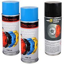 2x Dino 130091 Bremssattellack BLAU mit RAID HP Bremsen Reiniger Spray je 400ml