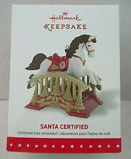 NIB 2015 Hallmark Christmas Keepsake Ornament Santa Certified Horse