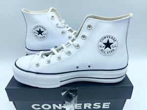 Womens Converse All Star Lift Hi White Trainers Ladies