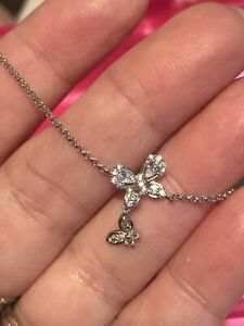 NWT Charmed Aroma Sterling silver butterfly bracelet dangle