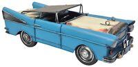 Vintage Classic Chevrolet Bel Air 1957 Car Tin Metal 37cm Length Collectible