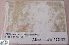 CAGIVA libretto uso e manutenzione Aletta d'oro 125-S2