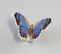 9944142 Schmetterling Falter klein blau Kämmer 7x5x5cm