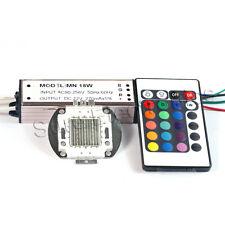 20W RGB High Power LED Light Lamp Panel w 20W High Power RGB LED Driver AC90-265