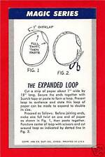 Old  The Expanded Loop Magic Trick Chicago Vending Card