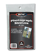 6 x 4 inch Photograph or Postcard Protective Sleeve x 100 pack