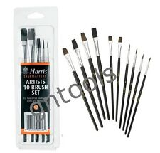 10pc Harris detalle fino artista Paint Brush Set Arte Traje Airfix & Warhammer 40k