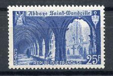 TIMBRE FRANCE NEUF N° 842 ** ABBAYE DE SAINT WANDRILLE