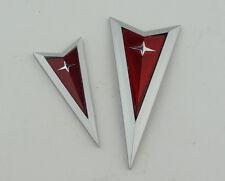 2004-2005-2006 Pontiac GTO Front & Rear Arrow Emblem Trunk Lid 04-06 Silver