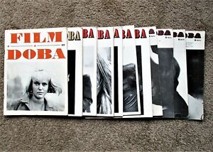 """11 Issues 1967-1978 CZECH FILM JOURNAL """"FILM A DOBA"""" During Russian Occupation"""