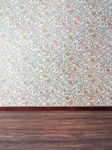 "Dollhouse Wallpaper ""Birds & Berries"" Jackson's Miniatures 1:12 Scale Victorian"