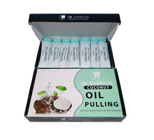 NEW: ORGANIC COCONUT OIL PULLING Teeth Whitening Kit - Mouth Detox DR CHARCOAL