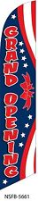 Grand Opening Patriotic Stars & Stripes Swooper Feather Banner Flag Sign