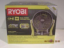 Ryobi P3320 18V ONE+ Dual Power Portable Fan(Tool-Only)Fully ADJUSTABLE FSP NISB