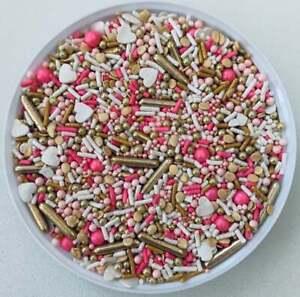 Golden Honeymoon Confetti Edible Party Sprinkles-You Pick Amount