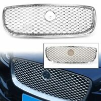 Car Chrome Front Bumper Middle Air Intake Grille For Jaguar XE 2015-2018
