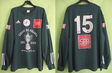 Maillot porté Adidas Coupe de France 2003 Vert #15 SFR match worn Jersey - XL