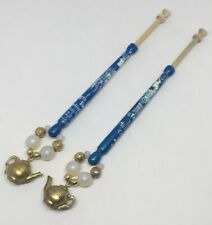 Lot of 2 English Lace Bobbins Iol 6th Lace Day Metropolitan Chapter '94 Spangled