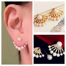 Pearl Earring New Fashion Ladies Elegant Pearl Ear Stud Earrings 1 Pair