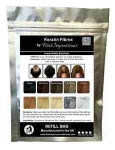 MEDIUM BROWN 75g - Hair Thickening Building Fibers Refill bag