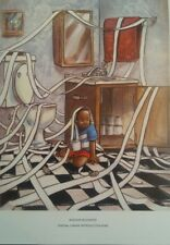 African American art. Title: Interior Decorator. Canvas reproduction.