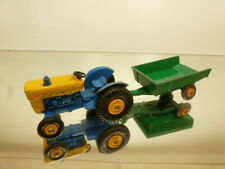 """LESNEY 51 TRAILER 39 FORD TRACTOR - GREEN+BLUE+ORANGE """"MATCHBOX"""" -GOOD CONDITION"""