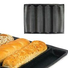 """12"""" Fiberglass Silicone French Bread Baking Mold Baguette Pan Tray Liner Tools"""