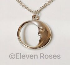 Tiffany & Co. Large Man In The Moon Double Chain Necklace 925 Sterling Silver