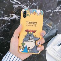 Cute TOTORO Anime Cartoon Phone Case Funny Cover For iPhone Xs MAX XR 8 6s Plus