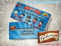 PERSONALISED Fathers Day CHOCOLATE BAR WRAPPER fit Galaxy 110g Father's Day Gift