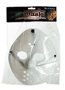 """Halloween """"Jason ist zurück""""  Maske Eishockey leuchtet im Dunkeln  24 x 24 cm"""