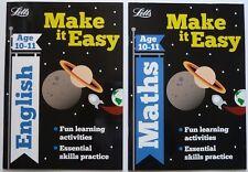 Letts Make It Easy English & Maths Workbooks Children Age 10-11 Ks2 Year 6