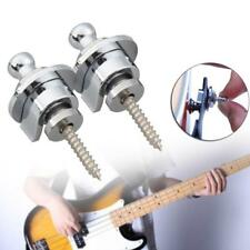 2x Schaller Style Straplocks Electric Acoustic Guitar Bass Strap Locks Button GA