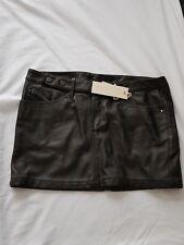 Diesel Kids Girls Faux Leather Skirt - Black/Grey - Age 16yrs