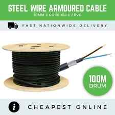 100M - 10MM 2 CORE ARMOURED CABLE BASEC APPROVED ELECTRICAL SWA CABLE XLPE PVC