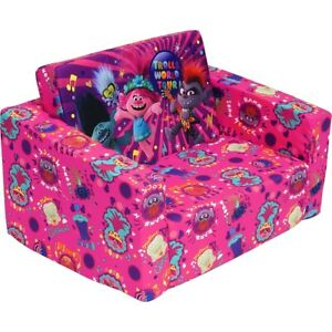 NEW Dreamworks Trolls Flip Out Sofa Bed Lounge Bedroom Decoration Birthday Gift